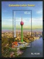 Sri Lanka Architecture Stamps 2019 MNH Colombo Lotus Tower Tourism 1v M/S