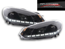 VW Golf VI 6  Front Scheinwerfer Tagfahrlicht LED Schwarz GTI R GTD Lampen Neu