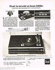 PUBLICITE ADVERTISING 055 1976  DUAL  chaine HI-FI  KA 460