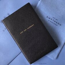 SMYTHSON - Hip Hip Hurray - Leather Note Book Pad + Dust Bag - Gift Bag - NEW