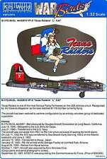 Kits World Decals 1/32 BOEING B-17G FLYING FORTRESS Texas Raiders