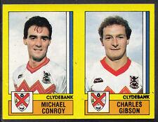 Panini football 1987 sticker-nº 483-clydebank-michael conroy & gibson