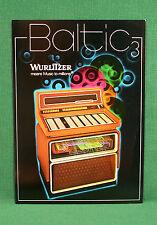 Original Wurlitzer Baltic 3 Jukebox Brochure