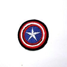 Mini Captian America Civil War Marvel Comic Hero Shirt Jeans Cap Iron on Patch