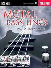 Metal Bass Lines - Berklee Guide Book Audio Online NEW 000122465