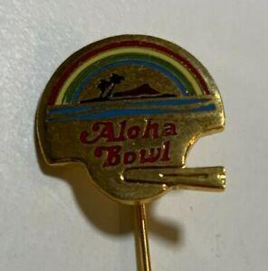 RARE Vintage Aloha Bowl Football 1980's Lapel Pin Hawaii Aloha Stadium NCAA NEW