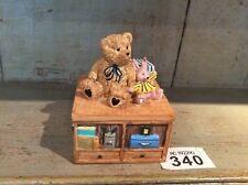 Resin Teddy Bear Trinket Storage Box Baby Gift Christening Gift