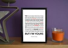 Framed - The Script - I'm Yours - Poster Art Print - 5x7 Inches