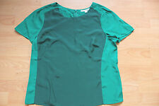 BODEN summer 2 tone green  colourblock blouse- top size 14R  NEW