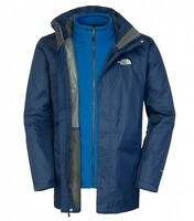 North Face Mens Triton Triclimate Jacket Cosmic Blue - Size S
