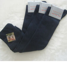 3 Pair Women's Knee Socks Extra Wide Waistband Without Rubber Blue 35 To 42