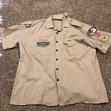 boy scouts of america Mens 2Xl Khaki Button Up Shirt A35