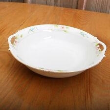 Noritake Hand Painted Double Handle Vintage Serving Bowl \u2013 Blue and White with Floral Design and Gold Trim