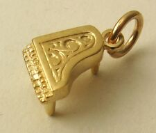 GENUINE SOLID 9K  9ct Yellow GOLD 3D PIANO II  MUSIC CHARM  RRP $129