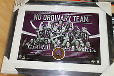 MELBOURNE STORM 2012 UNSIGNED LIMITED EDITION PREMIERS MEDALLION SET FRAMED