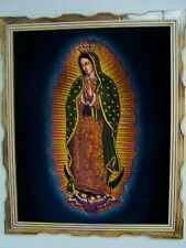 "18""X 22"" HAND PAINTED,VELVET PAINTING,VIRGEN DE GUADALUPE,RELIGIOUS PAINTINGS"
