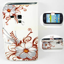 Flip Leather Stand Wallet Pocket Case Cover For Samsung Galaxy S3 III Mini i8190