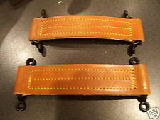 PAIR OF VINTAGE STYLE REAL LEATHER DOOR CHECK STRAPS