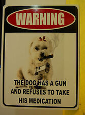 Guard Dog security warning sign funny novelty gun  protection Home Custom Pet