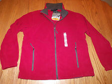 Nwt Mens Free Country Microtech Fleece Jacket Coat Zip Up Red M Medium