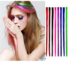 """New 24"""" Colored Colorful Clip On In Hair Extension Fake Custom AB"""