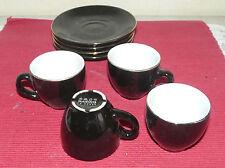 lot 4 tasses et sous tasse noire MAISONS DU MONDE (500016)