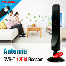 Indoor TV Antenna DVB-T Aerial Signal Booster Digital TV Receiver 1080P VHF UHF-