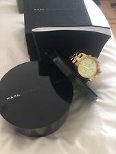 Marc By Marc Jacobs Gold Watch With White Face