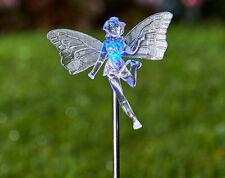 FATA cambia colore luce Paletto Energia Solare Da Giardino Statua Ornamento Caratteristica