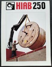 Hiab 250 Hydraulic Crane Dealer Sales Specs Brochure
