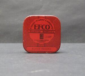 EFCO Elliott-Fisher Company Quality Typewriter Ribbons Tin