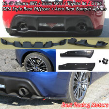 Factory Style Rear Bumper Diffuser + Aero Rear Aprons Fit 12-17 FR-S / Toyota 86