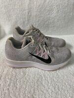 NIKE ZOOM WINFLO 5 Women's Size 8.5 Grey/White/Pink Running Shoes AA7414-013