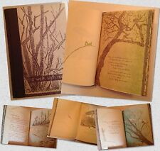 Vtg 1958 A WALK WITH ME by Gwen Frostic, Michigan Nature Block Print Poetry Book