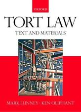 Tort Law: Text, Cases and Materials,Mark Lunney, Ken Oliphant