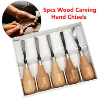 5pcs Set Hand Wood Carving Chisels Set Cutter DIY Tool for Lathe Woodcut Working