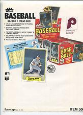 1981 Fleer  BASEBALL Cards Selling sheet  sales sheet vendor info rare B   MBX80