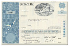 Jantzen Inc. Stock Certificate (Early Bathing Suit Maker)