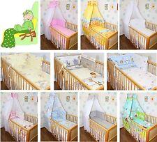 Baby Bettset 5-20T  mit Bettwäsche Nestchen, Chiffon oder Vollstoff Himmel