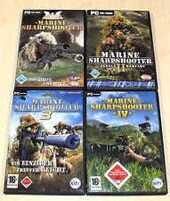 4 PC SPIELE SAMMLUNG - MARINE SHARPSHOOTER 1 2 II 3 4 IV - FSK 18 ego shooter