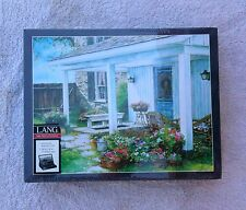Lang 500 PC Puzzle with Easel Style Pop Up Cover  A Potted Garden New & Sealed