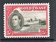 Gold Coast GV1 1938-43 P12 (line), 5s. sg 131 HH.Mint
