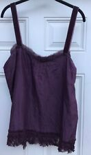 Pure DKNY Camisole in 100% Silk in Nightshade, size 14
