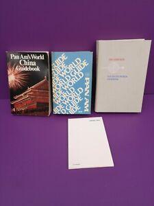 Airplane Memorabilia PAN AM hardback guide books and cook book
