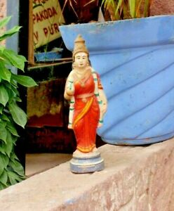 Vintage Statue Of Lord Laxmi Terracotta Figurines worth collectable home decor