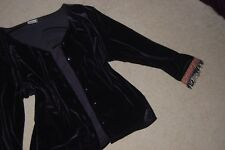 YESSICA ( C&A )VELVET EFFECT BUTTON TOP WITH DETAIL   SIZE 44