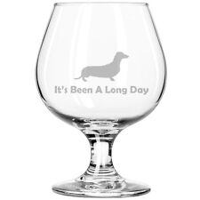 Belgian Tulip Beer Goblet Brandy Snifter Glass It's Been A Long Day Dachshund