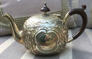 Antique Mackay & Chisholm Edinburgh Solid Silver Teapot 1880 312g