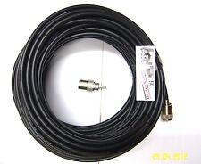 RG8x 15m 49' Mini8 Low loss 50Ohm coax cable 2 PL259 CB HAM radio foam core
