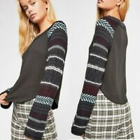 NEW Free People Fairground Long Sleeve Thermal Top Size S Retail $98